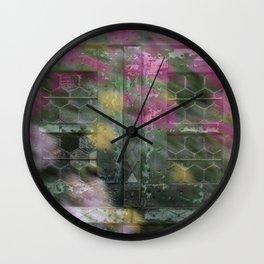 Honeycomb Glass Wall Clock