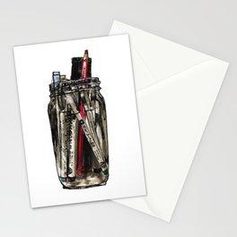 Mason Jar With Pens Stationery Cards