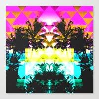 hawaiian Canvas Prints featuring Hawaiian Quilt by The Digital Weaver