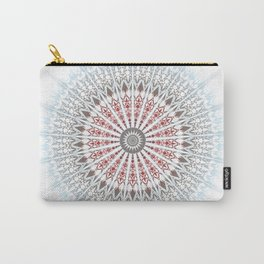 Red Taupe Blue Mandala Carry-All Pouch