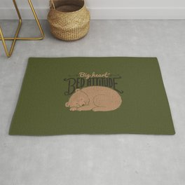 Big Heart Bed Attitude Rug