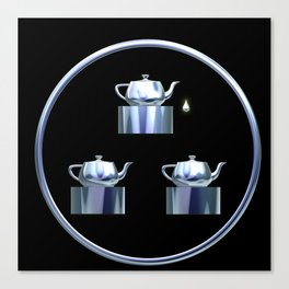 Tea for Three Canvas Print