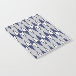 Mid Century Modern Diamond Pattern Blue and Gray 232 Notebook