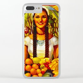 Vintage Bountiful Mexico Travel Clear iPhone Case