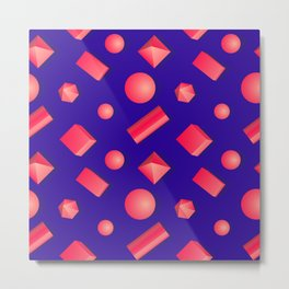 Colorful pattern of geometric shapes. Metal Print