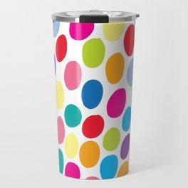 Colour Spots White Travel Mug