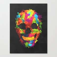Meduzzle: Colorful Geometry Skull Canvas Print