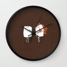 Mallow on Fire Wall Clock
