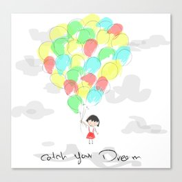 catch your dream Canvas Print