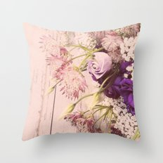 Gorgeous Vintage Floral Throw Pillow
