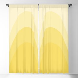 Four Shades of Yellow Curved Blackout Curtain