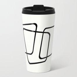 Simply Minimal - Black and white abstract Travel Mug
