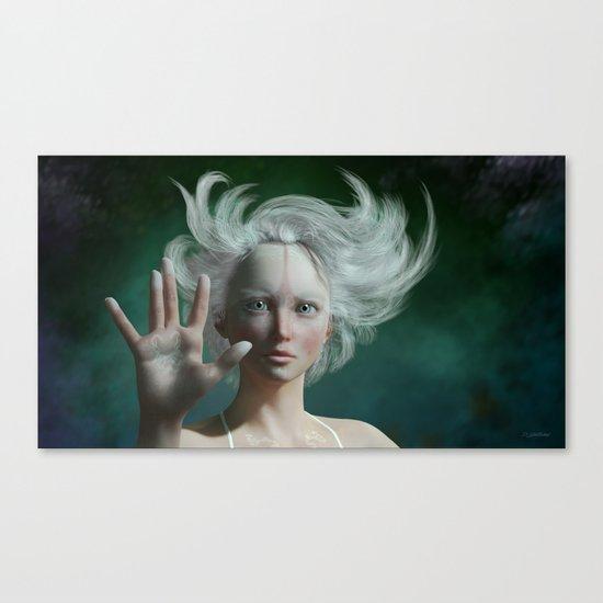 White Faun Canvas Print