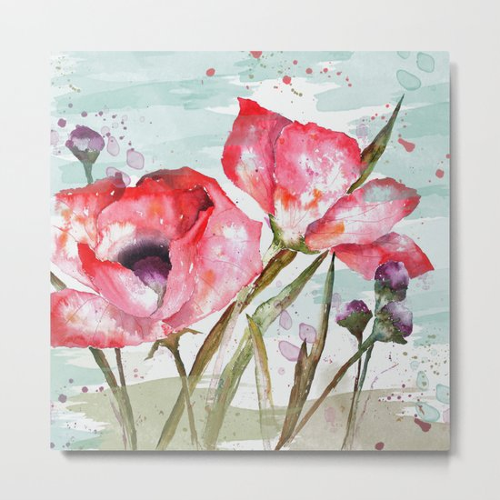 Poppies 05 Metal Print