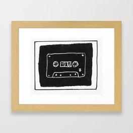 B-Side Cassette Framed Art Print
