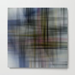 Deconstructed Abstract Scottish Plaid Pattern Metal Print