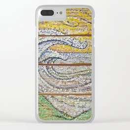 Waves on Grain Clear iPhone Case