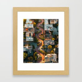 Lombard street from above Framed Art Print