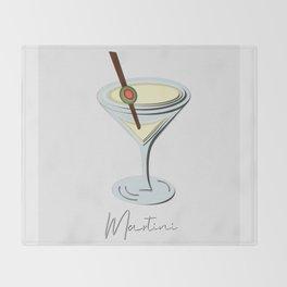 Papercut Martini Throw Blanket