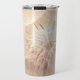 Pink Dandelion Flower - Floral Nature Photography Art and Accessories Travel Mug