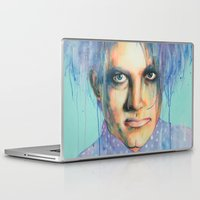 pastel goth Laptop & iPad Skins featuring Pastel Cure by Anne Blondie Bengard