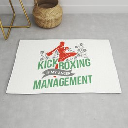 Kickboxing Is My Anger Management Rug