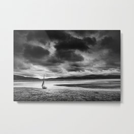 All alone on the Dovey Estuary Wales Metal Print