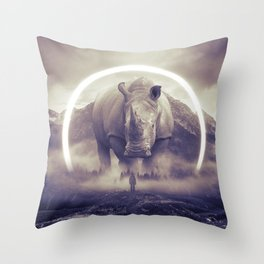 aegis II | rhino Throw Pillow