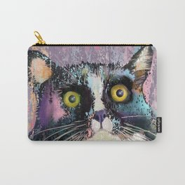 Big eyed tuxedo cat Carry-All Pouch