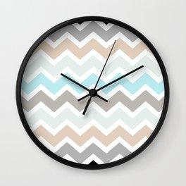 Soft Blue Chevrons Wall Clock