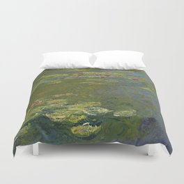 Claude Monet - Water Lily Pond 1919 Duvet Cover