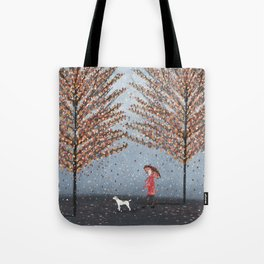 early morning rain Tote Bag