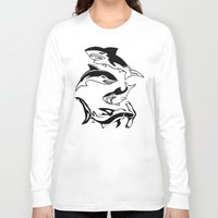 sharks Long Sleeve T-shirts featuring Sharks by ChrisShirts