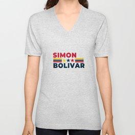 Simon bolivar Unisex V-Neck