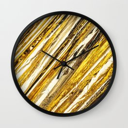 Shimmering Gold Foil Wall Clock