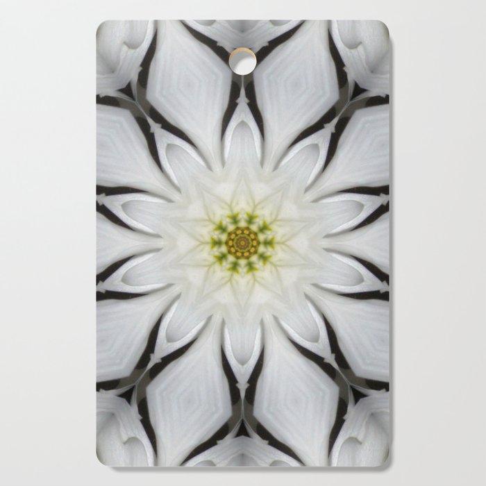 White Flower Design Cutting Board