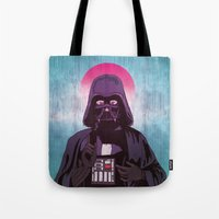 sith Tote Bags featuring Holy Sith by That Design Bastard