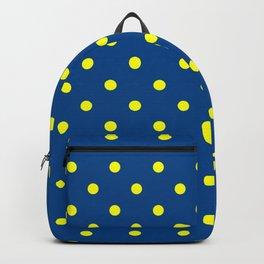 Maize & Blue Polka Dots Backpack
