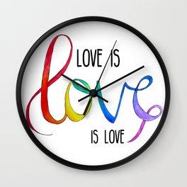 Love is Love is Love Wall Clock