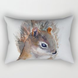 Watercolor Baby Squirrel Woodland Animals Nursery Series Rectangular Pillow