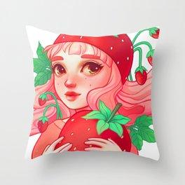 Strawberry Sweetie Throw Pillow