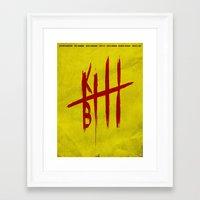 kill bill Framed Art Prints featuring Kill Bill by Guillaume Vasseur