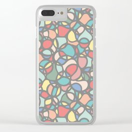 We Were Once Soft Colored Circles Clear iPhone Case