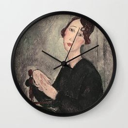 Portrait of Dedie Hayde by Amedeo Modigliani Wall Clock
