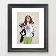 Crazy Cat Lady Photograph Framed Art Print