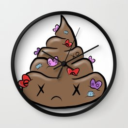 Shit Love Wall Clock