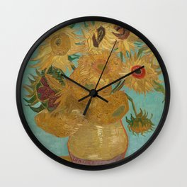 Sunflowers by Vincent Van Gogh Wall Clock