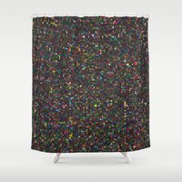 led zeppelin Shower Curtains featuring LED 2 by Simon C Page
