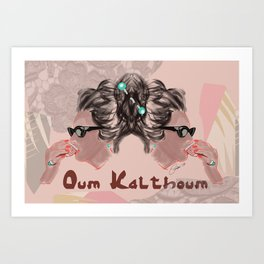 OUM KALTHOUM: VOICE OF EGYPT Art Print