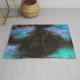 Aurora Galaxy pegasus Rug